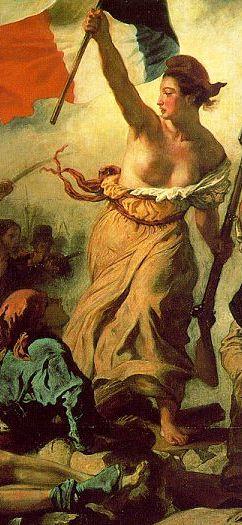 Marianne, a Liberdade conduzindo o povo, por Eugène Delacroix